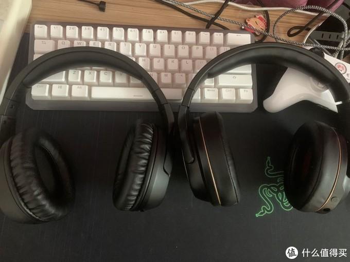 不对称的2.4g无线游戏耳机对比