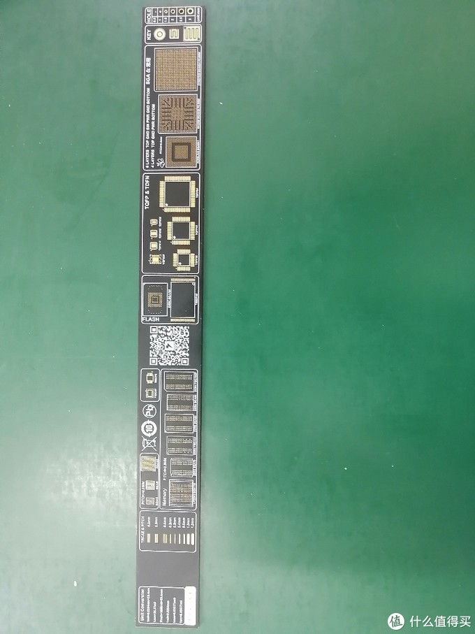 电粉福利:定制镀金PCB测量尺