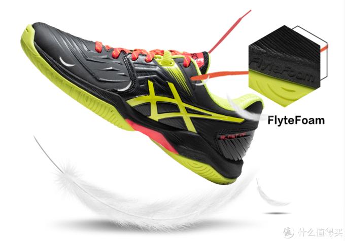 这款ASICS BLAST FF羽毛球鞋,也采用的是FlyteFoam中底材料,穿起来非常舒服