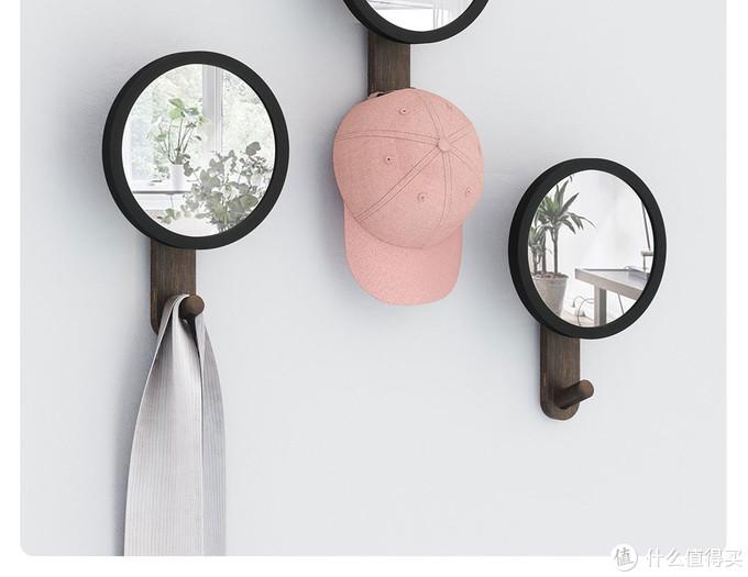 是镜子,是挂钩,也是墙面装饰,小米有品上新umbra哈伯镜钩