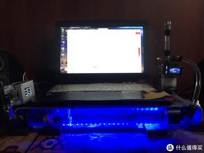 笔记本外置水冷改装 —— 把所有的设备安装在基座上