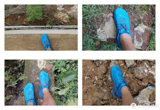 有意穿着去了各种不同的路面来感受跑鞋的能力
