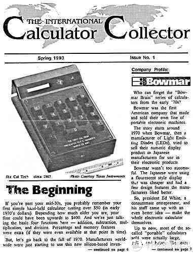 国际计算器收藏家杂志的报道