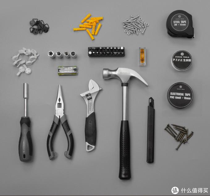 常用工具、零件都配齐,九旬上新166合一手动家用工具箱,买套装更省心