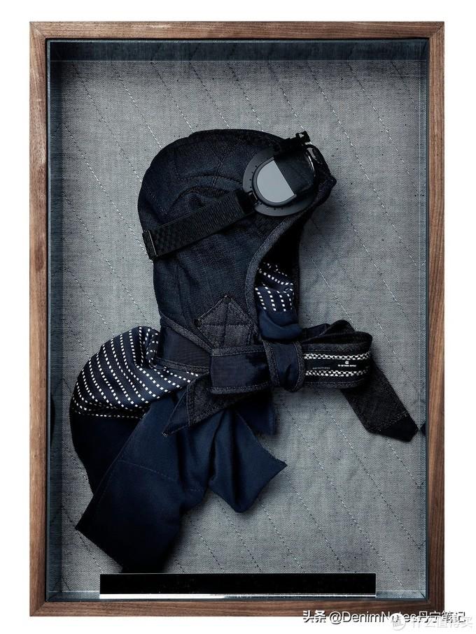 丹宁飞行员头盔,用独特的视角和观赏性来表现牛仔的美学价值。