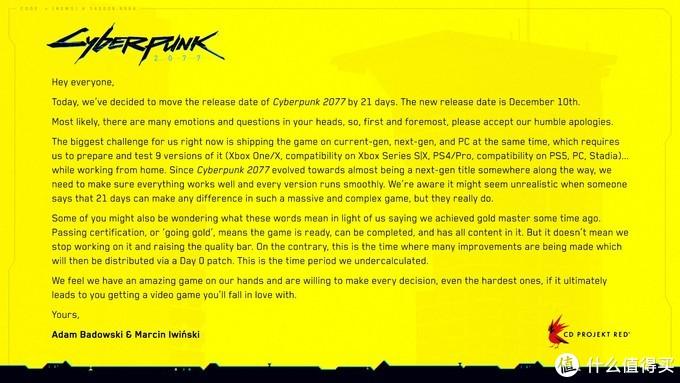重返游戏:《赛博朋克2077》三度跳票,确认将于12月10日发售