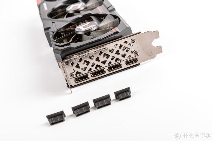 显卡的挡板,3个DP1.4A和一个HDMI 2.1,上半部镂空的是耕升的LOGO