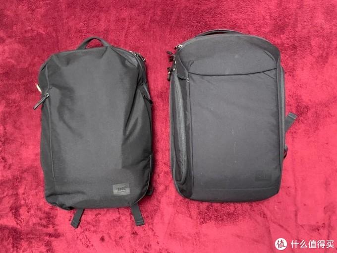 两个包的外形我刚才也说了,一个软些,一个硬些。不过外形设计都比较有线条和整体感。