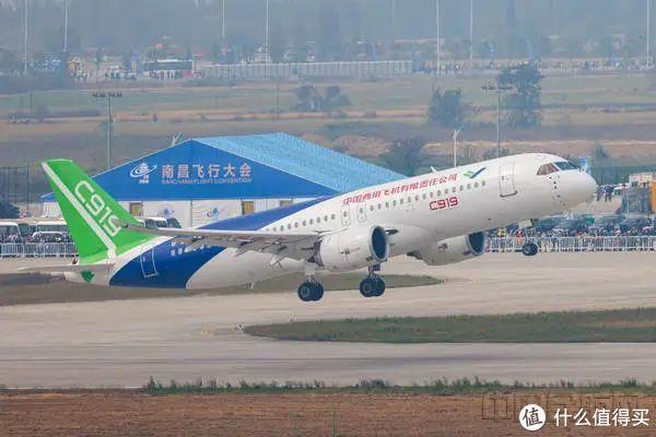 C919进行动态展示 图自中国民航网