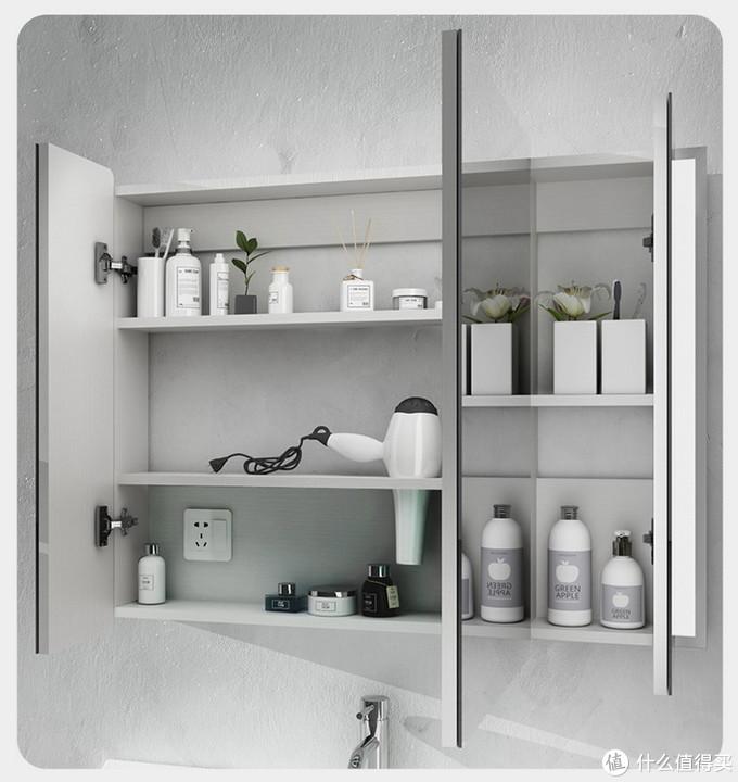 你家卫生间离实用高效就差一个镜柜了!