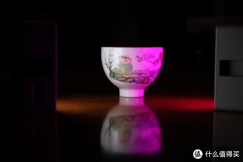 开启CCT冷光+RGB紫光色调