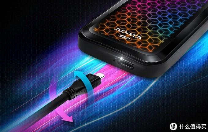 1G/s读速、精致灯效:威刚 发布SE770G RGBDAZZLING移动固态硬盘