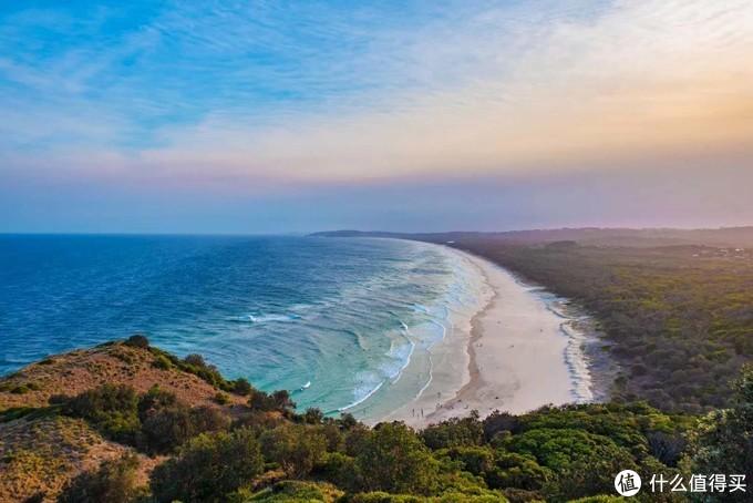 澳洲拜伦湾的日落。