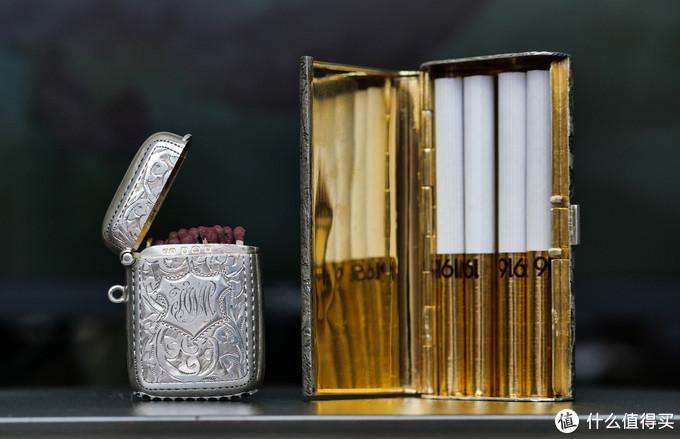 1921年的英国银质火柴盒和纳粹时期的意大利银质烟盒