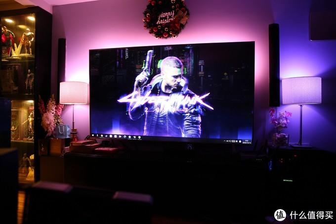 这样可以通过wifi链接电脑进行对应的屏幕识别,周围的灯光也全部根据
