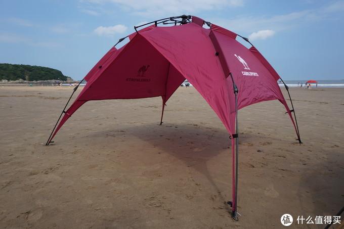 冬至的评测第一帖:阳光、沙滩,青山、绿水的骆驼全自动双层帐篷和领路者帐篷对比评测
