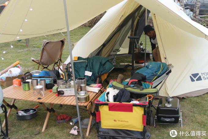 双十一后 晒帐篷 牧高迪纪元 230 帆布帐篷