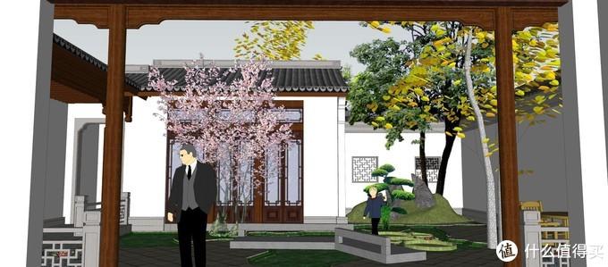 他拆掉老房,自建245㎡中式别墅,里面的庭院,让邻居都惊艳了