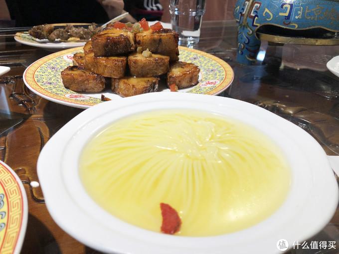 菊花豆腐,糖溜卷果