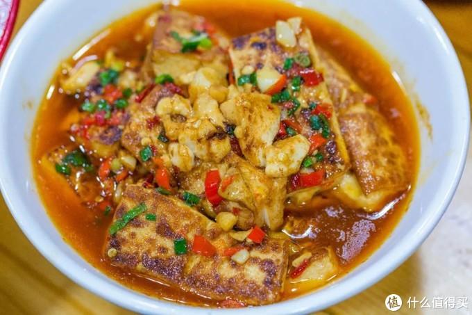 煎白沙豆腐