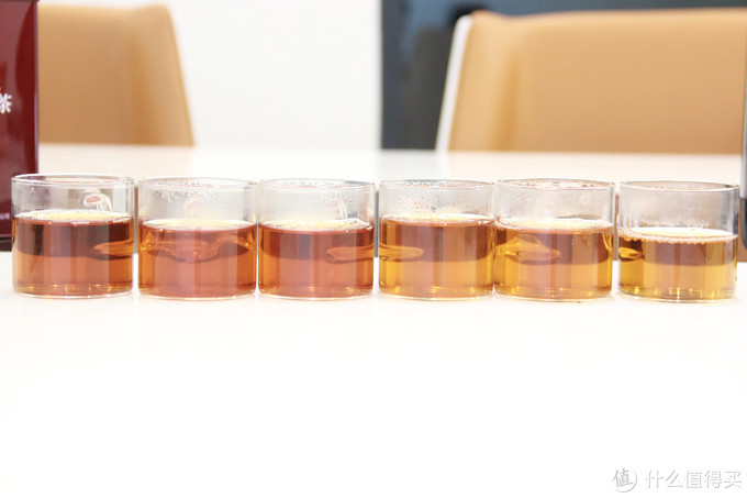 祁野茶汤对比图和耐泡度展示图