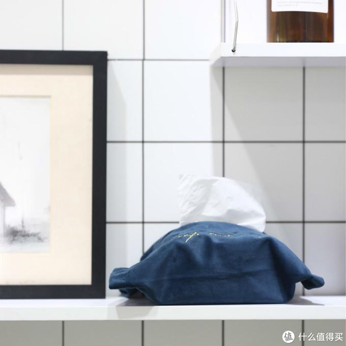 丝绒纸巾盒