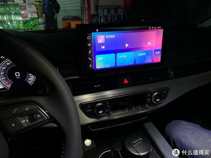 体验很不错的喵驾盒子奔驰奥迪大众都可以用,原车屏幕播放视频