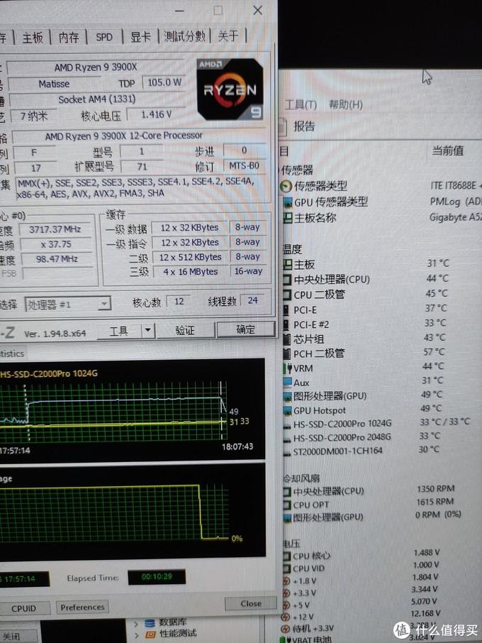 停止烤机后CPU温度骤降