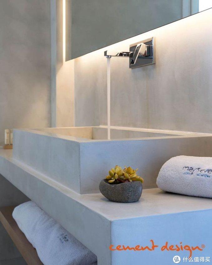 微水泥用于卫生间台面