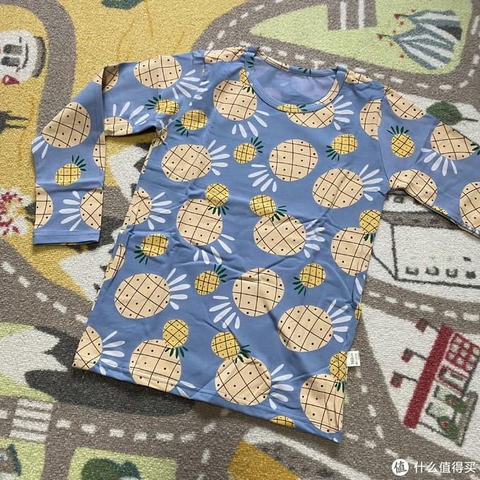 俞兆林菠萝印花儿童内衣套装