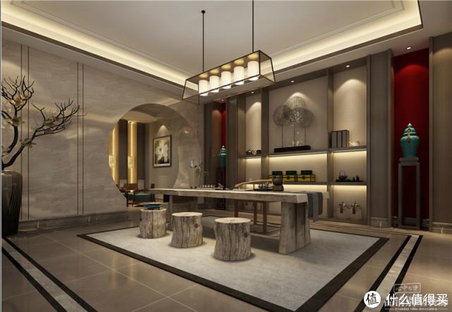 常州别墅全案装饰 700㎡现代中式,古韵与现代的融合