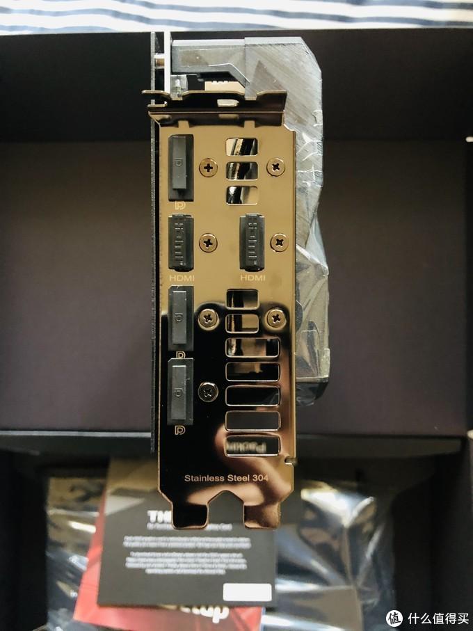 号称手术级别不锈钢的后挡板,三DP1.4 二HDMI2.1