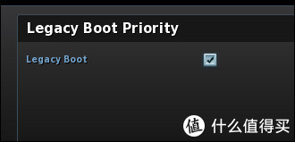 Legacy Boot Priority