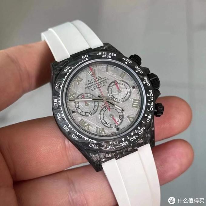 小虎说表:劳力士迪通拿碳纤维表壳和陨石表盘的结合腕表改装案例