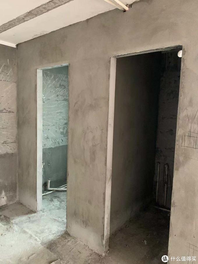 砌完了的洗手间