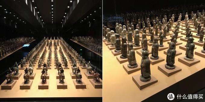 司马金龙墓出土人俑,保存完好展出的人俑共计238个