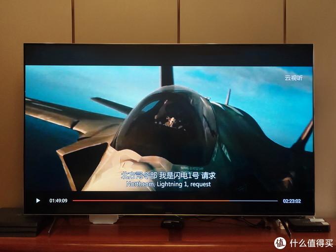 "X9000H使用图像模式为""电影模式"",播放480P画面"
