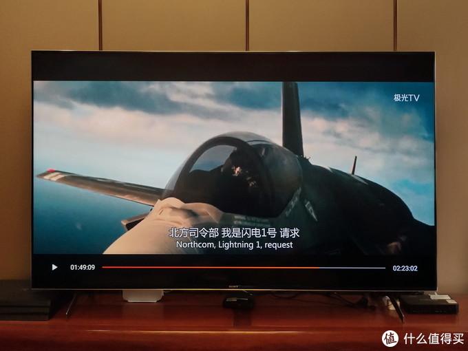 """X9000H使用图像模式为""""电影模式"""",播放4K画面"""