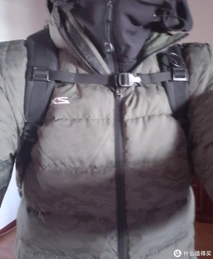 今天太冷了,穿我爸220块钱买的2xu羽绒服