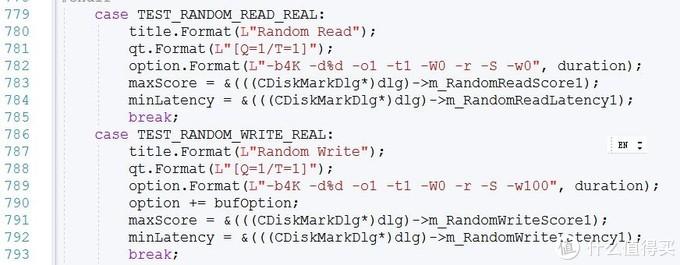 Diskmark调用diskspd的参数