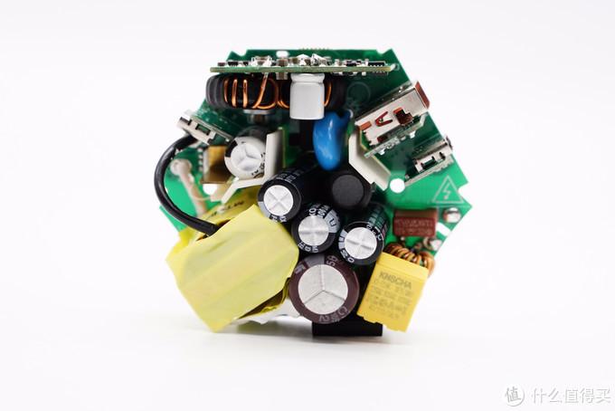 飞利浦65W氮化镓快充摩天轮插座拆解,支持多个快充协议兼容性全面