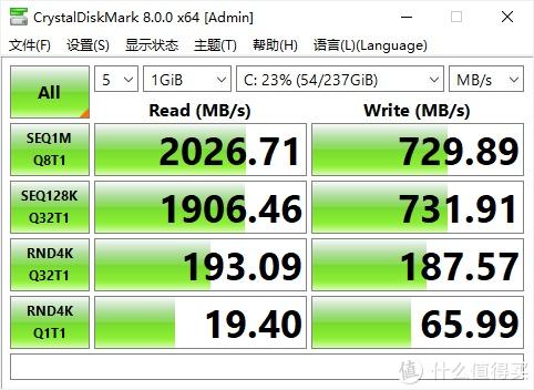 CrystalDiskMark固态硬盘测试