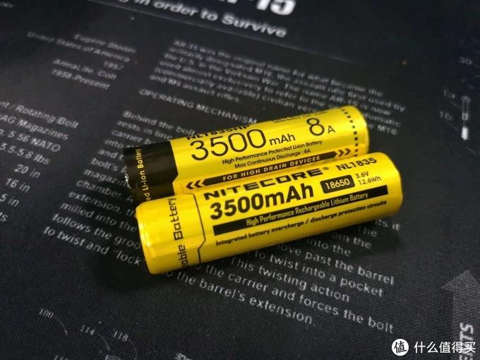 P22R与P20V2标配18650电池对比