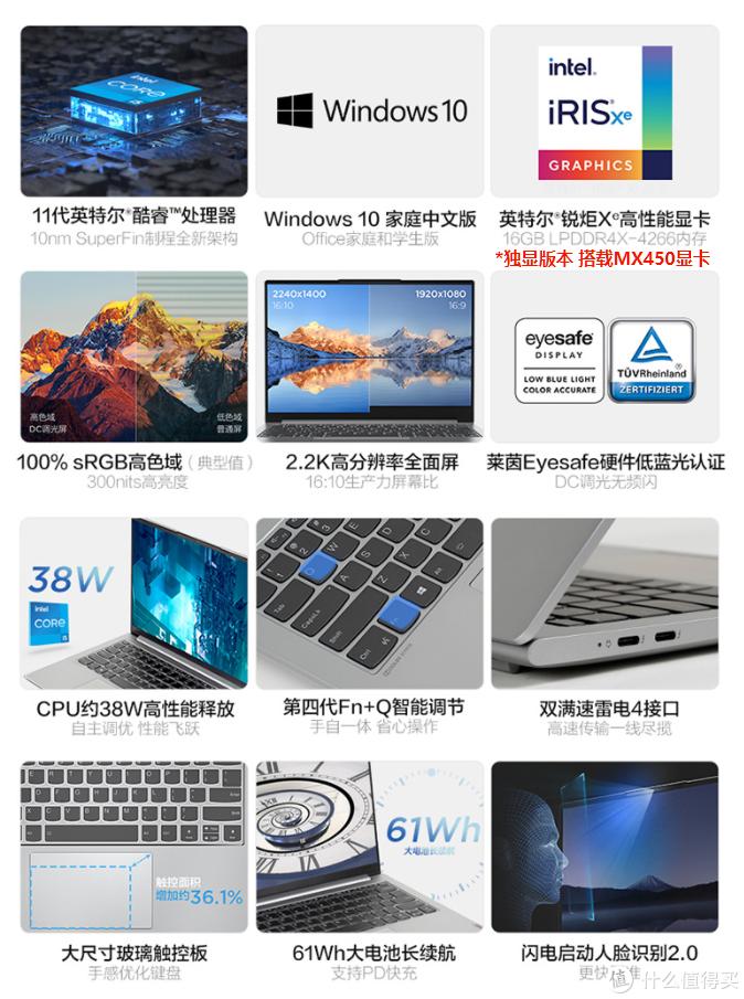联想正式推出小新Pro 14 2021集显版:锐炬核显+2.2K屏,10.9小时续航