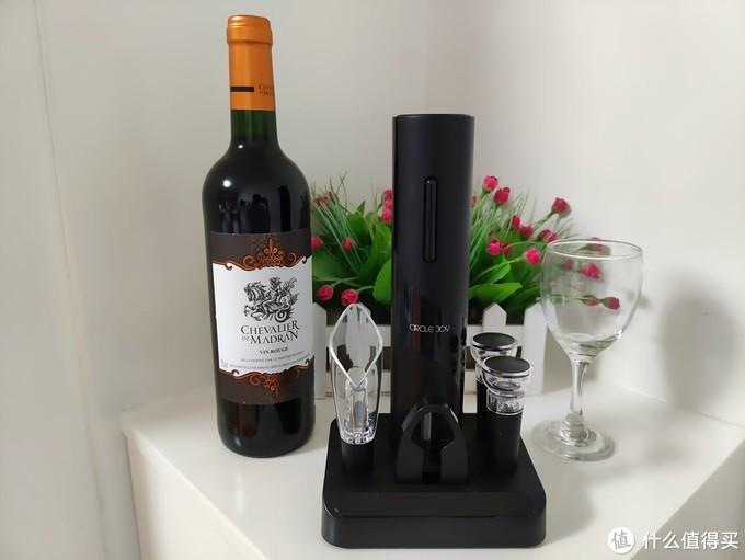 圆乐黑武士电动红酒开瓶器酒具套装,你值得入手!