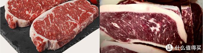西冷牛排与臀腰肉盖