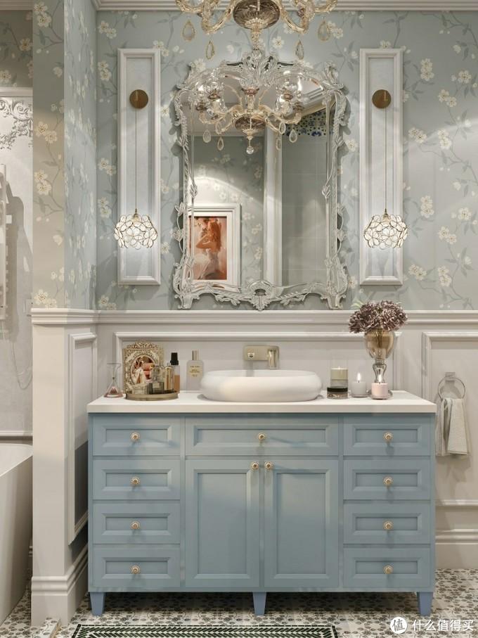 闺蜜家的法式轻奢浴室✨️智能马桶都好心动