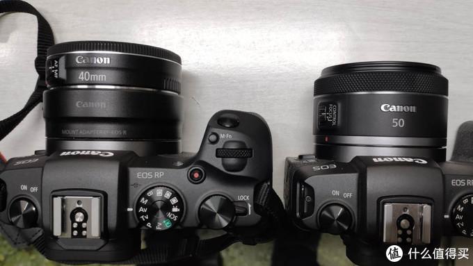 EF vs RF 两款50/1.8 STM外观对比——顺道展示佳能最轻便全画幅方案
