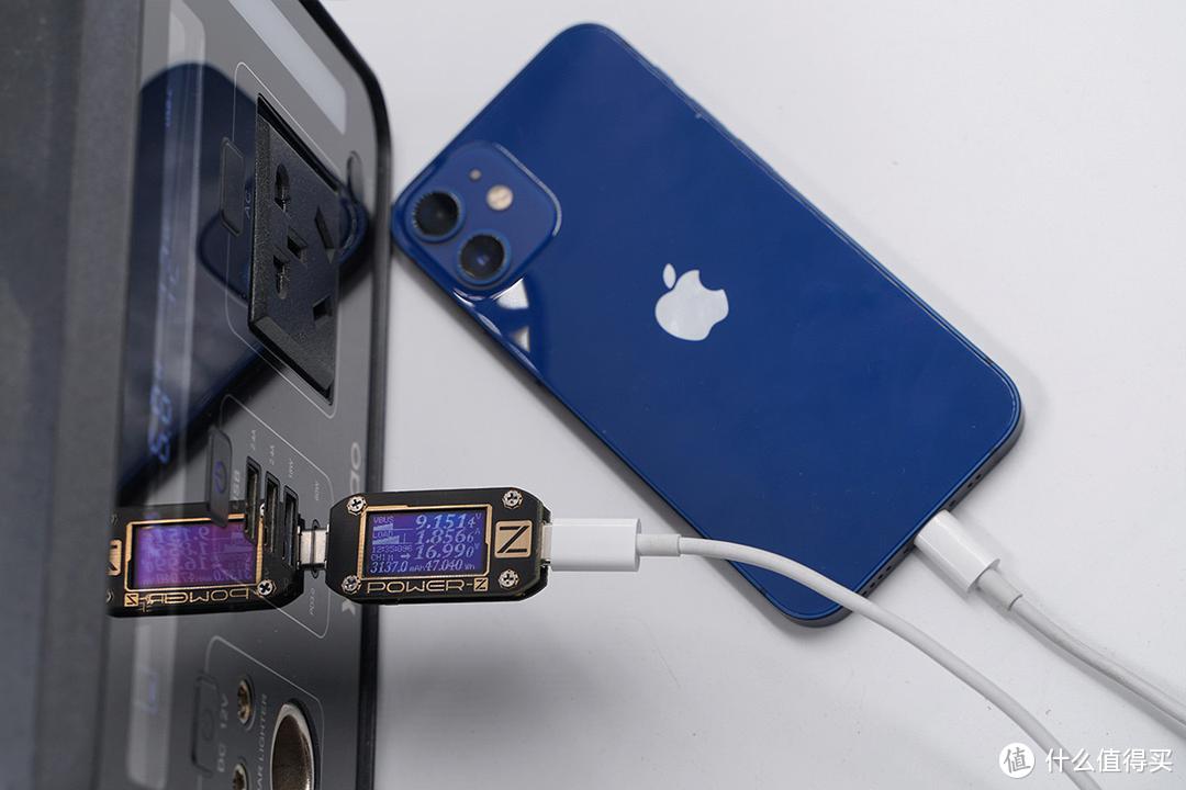 户外电源也可以直接为iPhone12mini实现PD快速充电