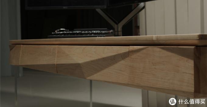 1.5英寸厚的牙条整体雕刻,再取出中间的一部分制作抽屉面